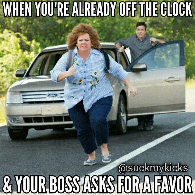 When you're already off the clock & your boss asks for a favor