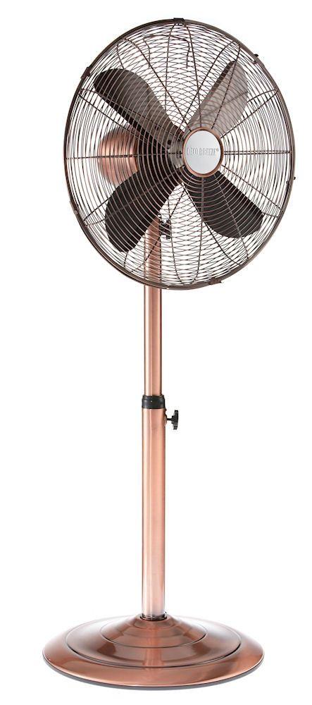 Copper 16 Inch Adjule Oscillating Pedestal Floor Fan