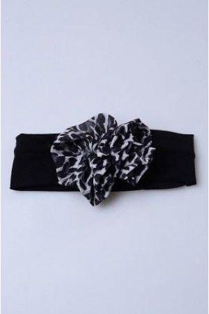 siyah leopar bandana
