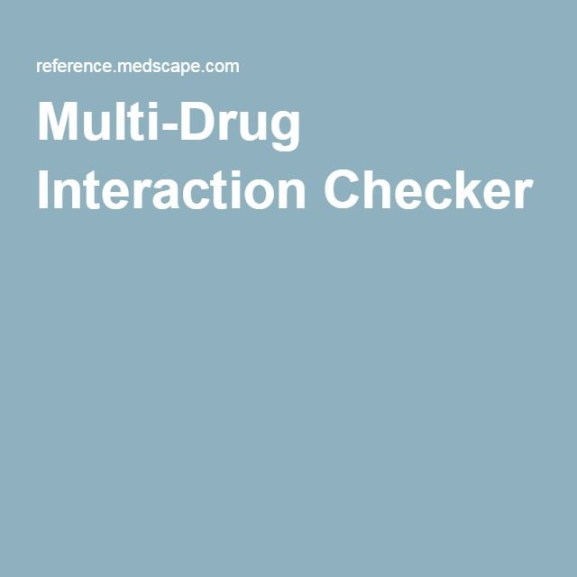 Multi-Drug Interaction Checker