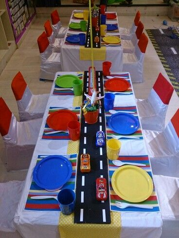 Transportation theme for boy birthday party..inspiration