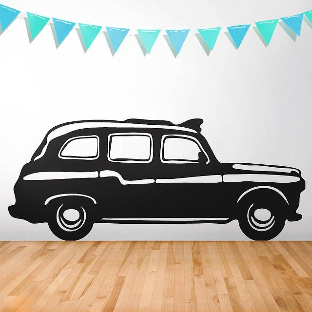 Ive just found london cab vinyl wall sticker give any room a london feel with this iconic london cab wall sticker