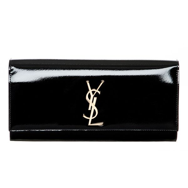 ysl clutches on sale - Saint Laurent Monogramme Patent Leather Clutch found on Polyvore ...