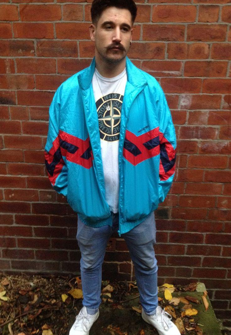 Vintage Adidas Tracksuit Jacket Shell Suit Bomber D7 L