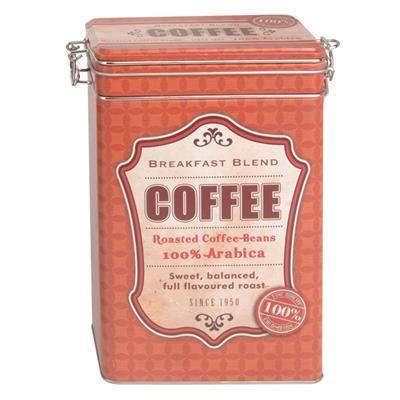 59,00 DKK. Retro kaffedåse - Rød. Rød kaffedåse i retro design med teksten Coffee.  Dåsen har patentlukning med gummipakning i låget, og sikrer dermed at din kaffe holder sin friskhed.  Kaffedåsen har målene 12 x 8 x 19 cm.