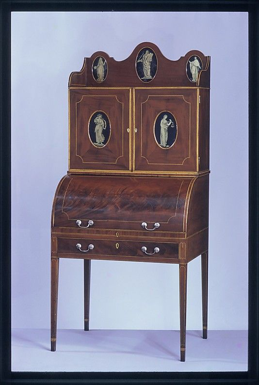 Desk and bookcase 1800-1810 Mid-Atlantic, Baltimore, Maryland American  Mahogany, · Antique CabinetsAntique FurnitureFine ... - 108 Best Marquetry & Inlaid Furniture Images On Pinterest Antique