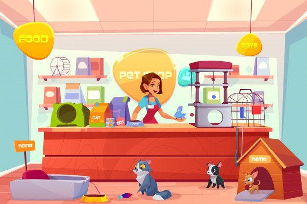 Download Modern Pet Shop Interior Cartoon For Free En 2020