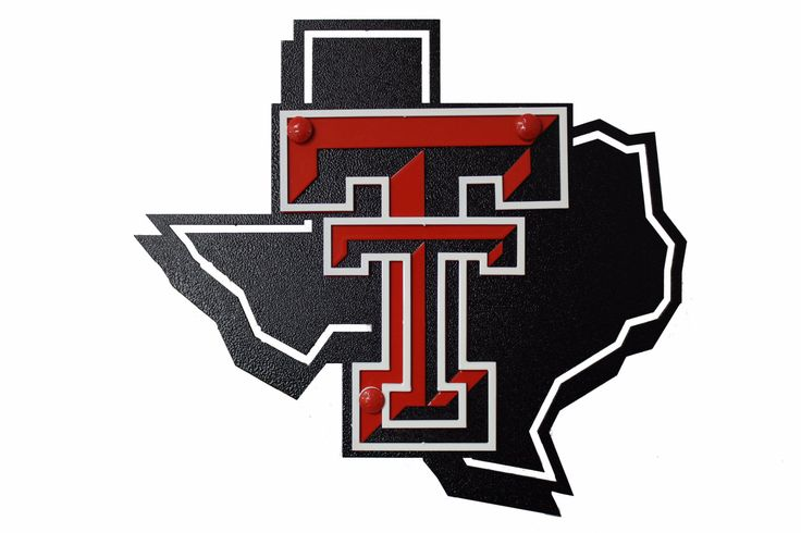 Texas Tech State Shape Extra Large Premium Metal Hitch Cover & Pin