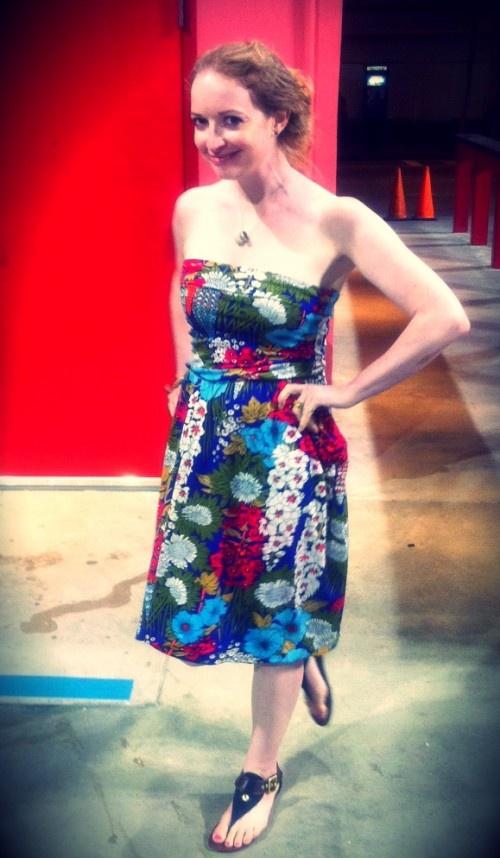 New Dress a Day - DIY - Vintage Dress - After - Street Shot - 172
