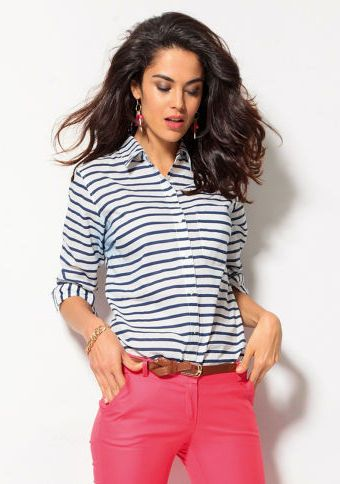 Košile s dlouhými rukávy #ModinoCZ #strips #fashion #modern #trend #clothing #pruhy #oblékání #moda #trendy