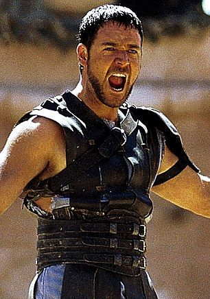 Maximus! Maximus!  Russel Crowe.  He looked darned good in that skirt.