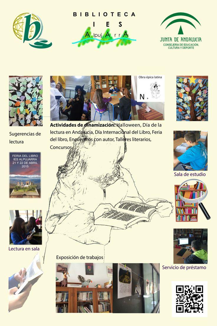 Servicios, programas y actuaciones de la biblioteca escolar del IES Alpujarra, vía Rosa María López