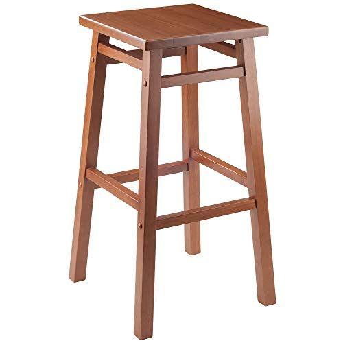"These Top Rated Winsome Carter 29"" Teak Finish Bar Stool ..."