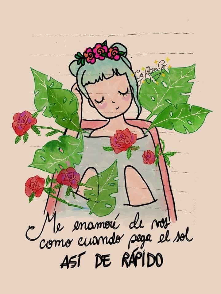 Go Flores Go Dibujos Con Frases Frases De Sentimientos Y