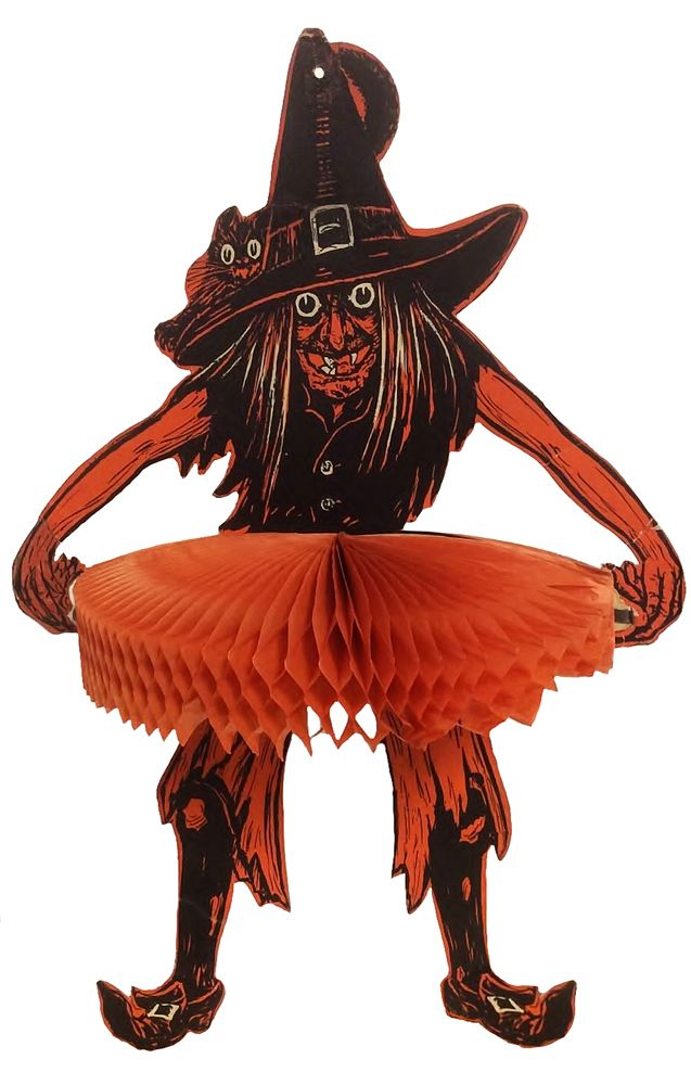 tango witch vintage halloween decoration by beistle american - Antique Halloween Decorations