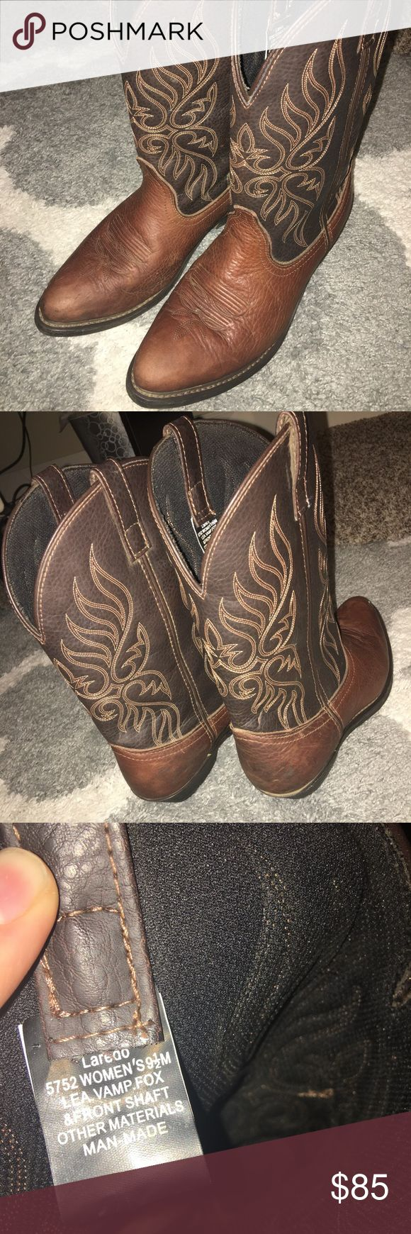Laredo Cowboy Boots - Woman's Size 9.5 Wore to a country concert for a weekend and never wore them again excellent shape and bought brand new at Centerville Country Store. Laredo Shoes Winter & Rain Boots