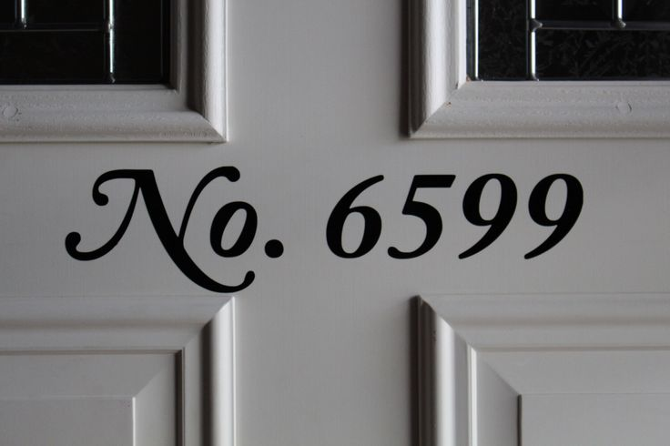 Front Door Number Vinyl Decal - Street Number - House Address Number - Custom Made by CaitandCadensCastle on Etsy https://www.etsy.com/listing/248842599/front-door-number-vinyl-decal-street