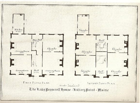 Floor Plan of Lady Pepperell House Laid out Pinterest