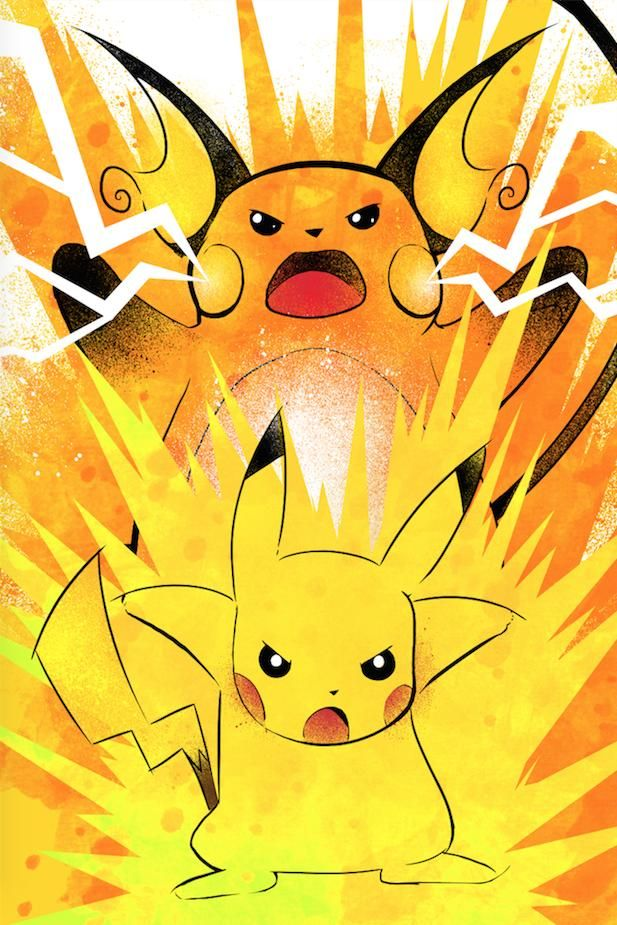 Pikachu and Richu evolution artwork