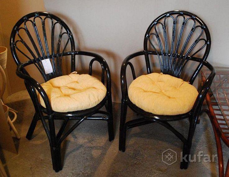 Набор стульев из натурального ротанга. Фиджи
