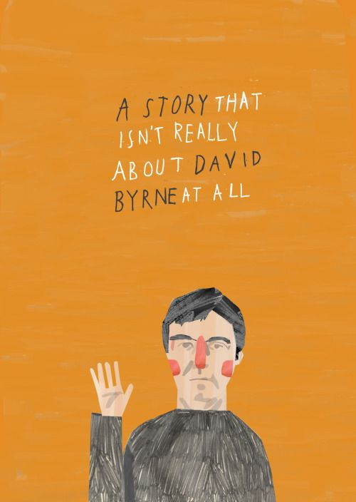 http://lostcontrolcollective.tumblr.com A story that isn't really about David Byrne at all The cover to my mini-zine that isn't about David Byrne