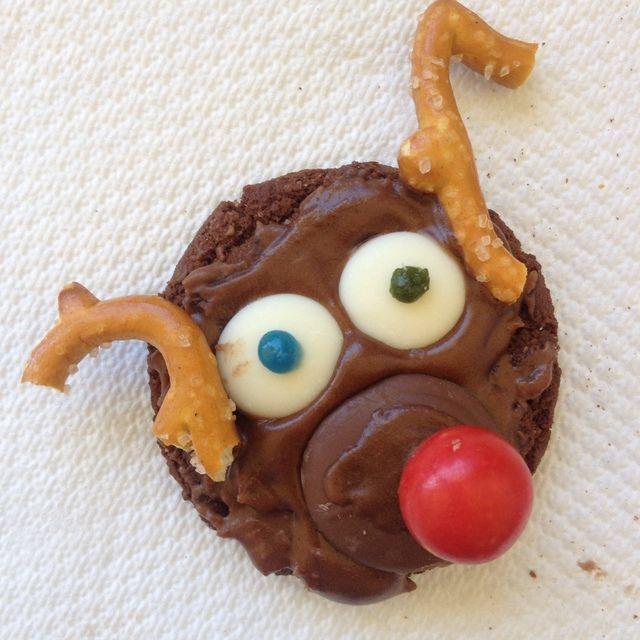 Christmas Reindeer Biscuits #cookies #Christmas #kids