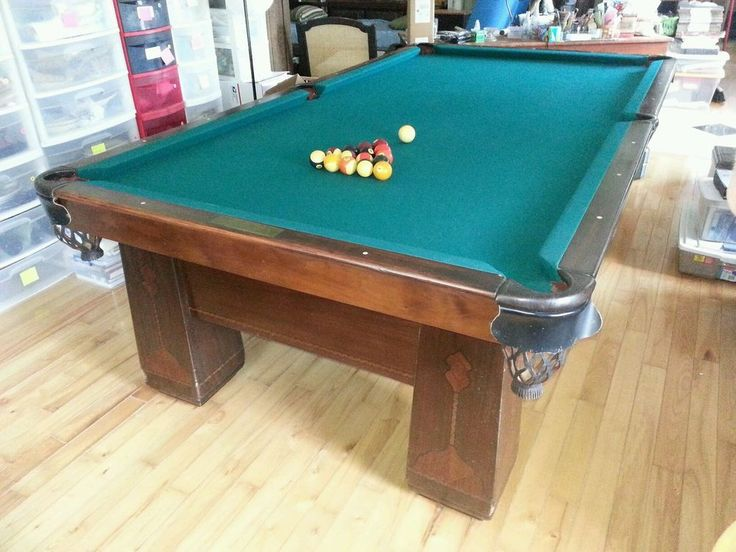High Quality 1926 Brunswick Balke Collender Antique Pool Table 4 1/2u0027 X 9u0027
