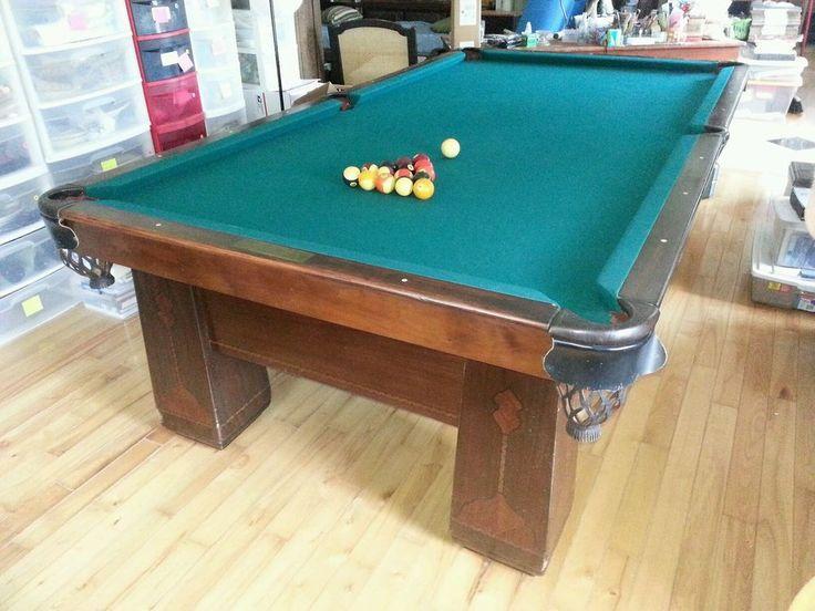 Lovely 1926 Brunswick Balke Collender Antique Pool Table 4 1/2u0027 X 9u0027