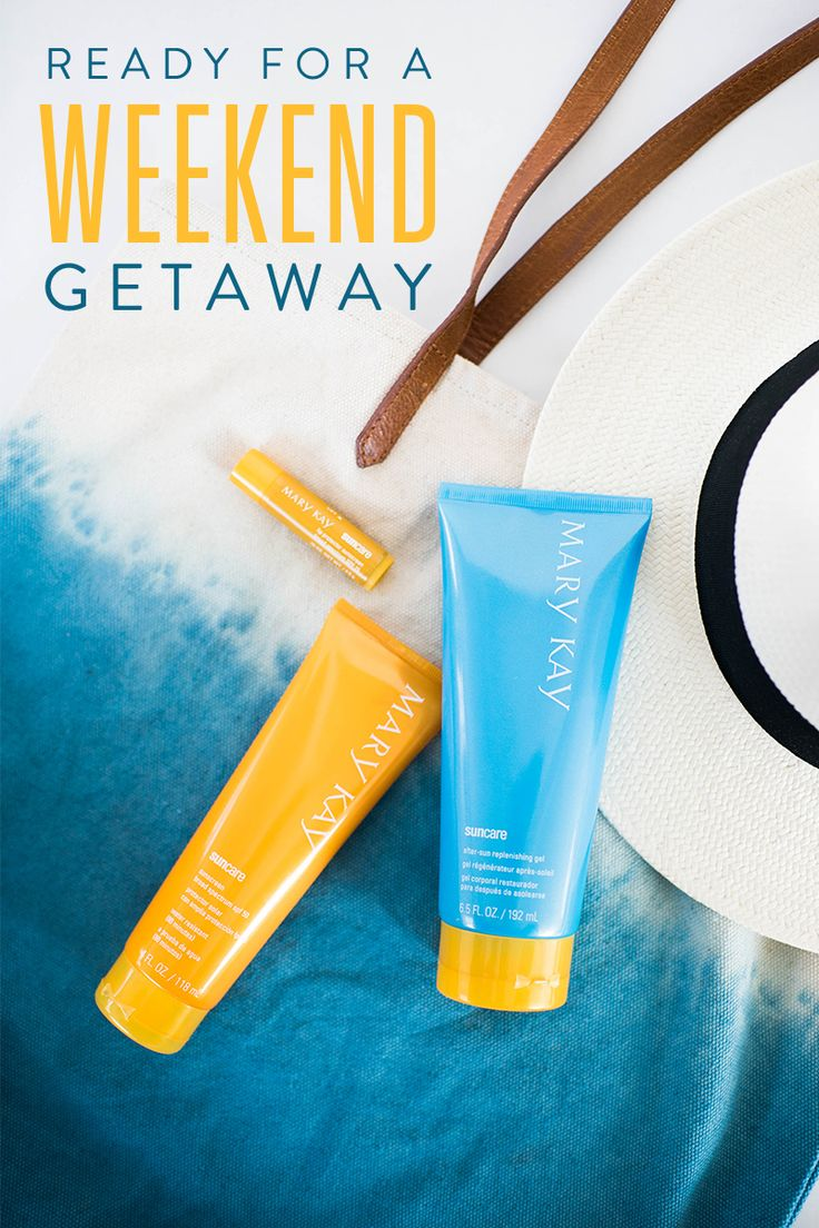 Soak up the sun and protect your skin from sunburn with our beach day must-haves! Mary Kay® Sun Care Sunscreen Broad Spectrum SPF 50* is a lightweight, oil-free sunscreen for the face or body that helps protect and replenish skin, while Limited-Edition† Mary Kay® Sun Care After-Sun Replenishing Gel replenish vital moisture.