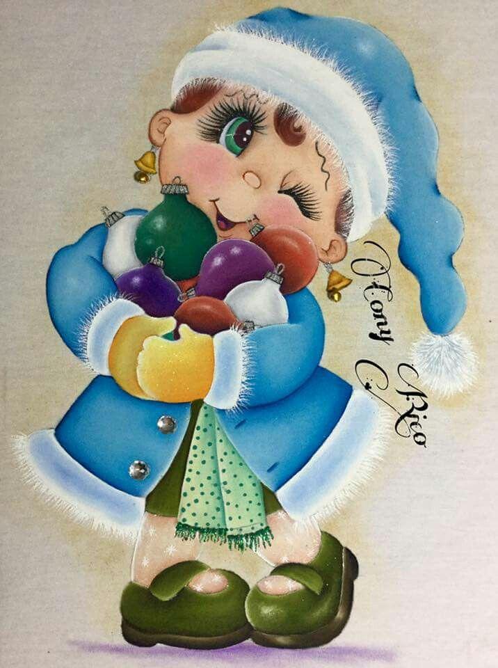 niña navideña