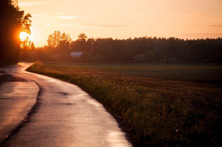 Finland summer road