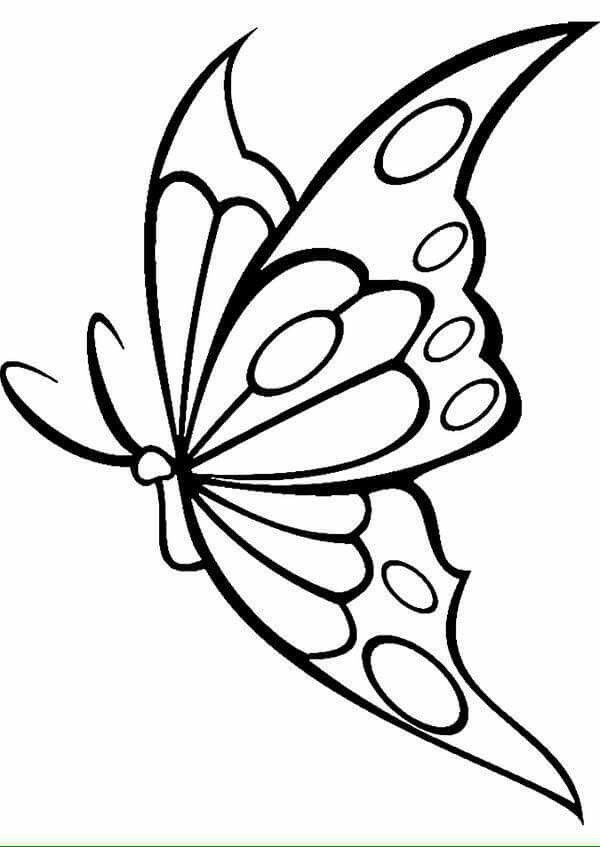 Embroidery Patterns Easy Embroiderypatterns Mykinglist Com Butterfly Template Butterfly Drawing Butterfly Painting