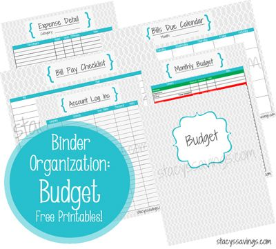 FREE Budget Printables!