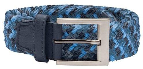 adidas 2017 Men's Braided Weave Stretch Belt (Dark Slate/Joy Blue/Blast Blue - S/M)