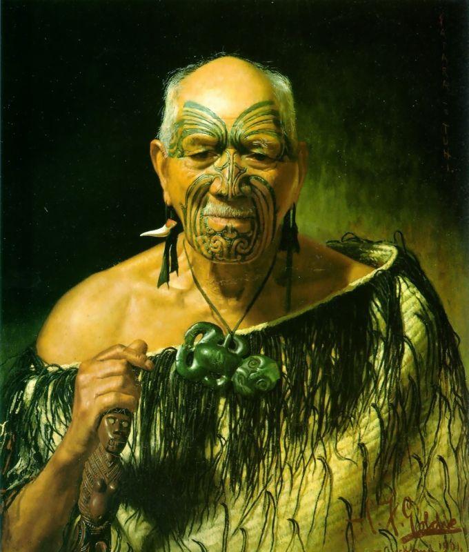 Patara Te Tuhi - An Old Warrior by Charles Goldie