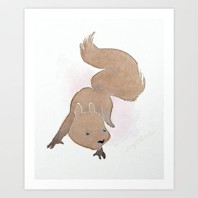 Squirrel Art Print by Tanya Petruk - $17.68