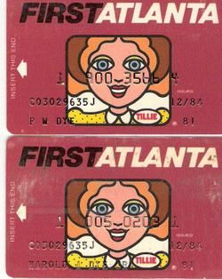 Tillie-the original ATM card.  It is Tillie to me today.  Old habits die hard. I still call my ATM Card the Teller card!