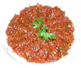 crushed tomato salad