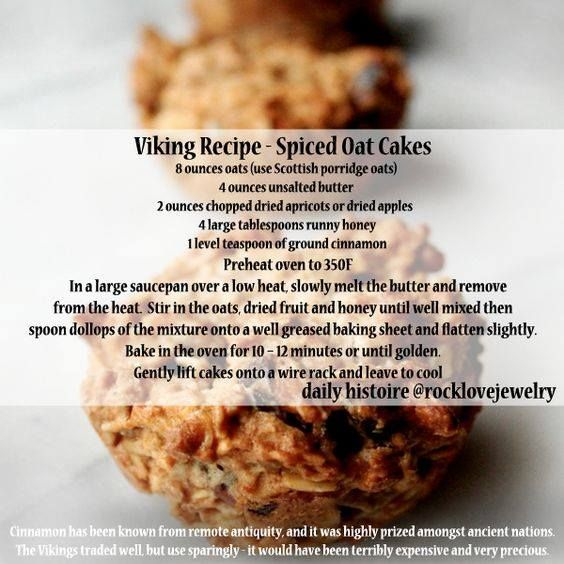 Viking Recipe - Spiced Oat Cakes