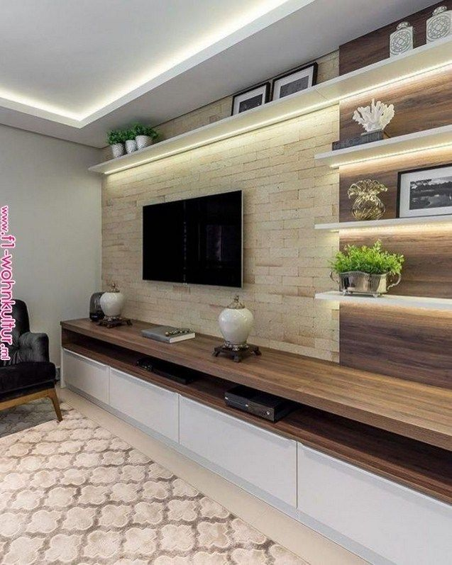 61 Brilliant Built In Shelves Design Ideas For Living Room 58