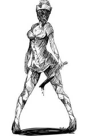 silent hill nurse sketch - Bing Images                                                                                                                                                                                 Más