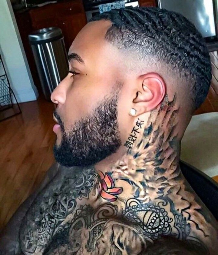Tattoo For Men Neck: I Like The Neck Tattoo