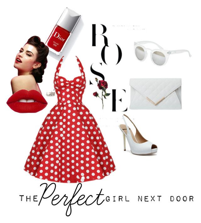"""The perfect girl next door"" by hillary-nicole-vibbard on Polyvore featuring Steve Madden and GUESS by Marciano"