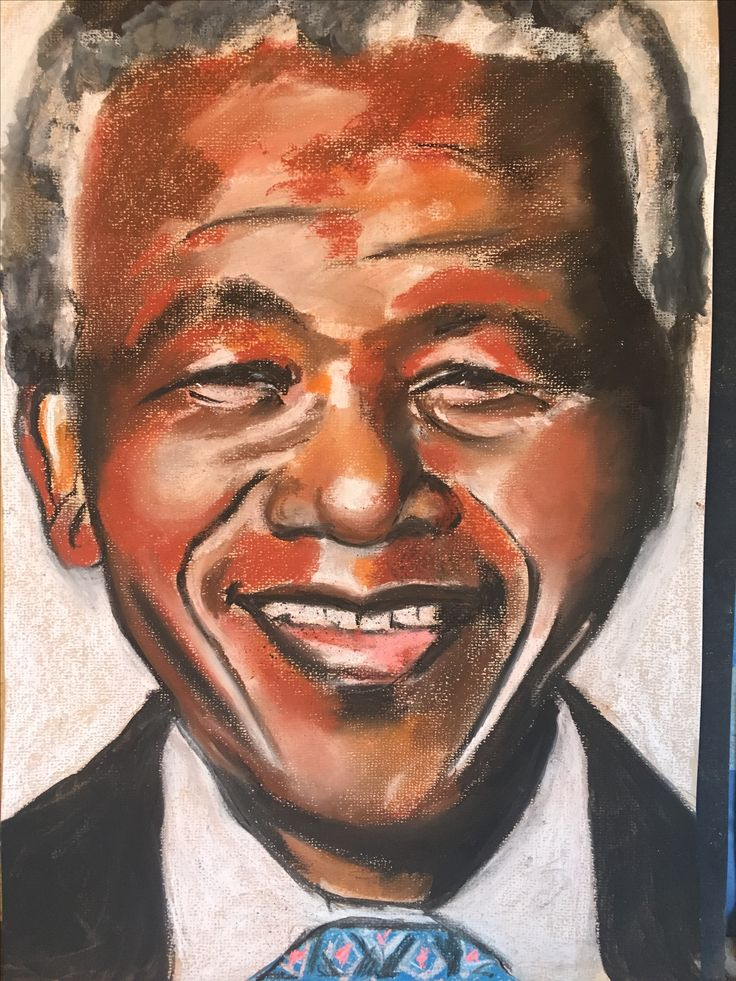 A pastel portrait I did of Nelson Mandela.