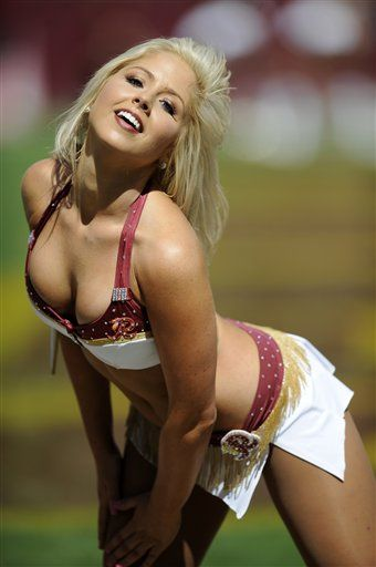 REDSKINS CHEERLEADER, This ass couldnt be racist if it wanted to. The Injuns may like it anyway. Get over yourself, people!! I am a Cracker, so fuckin what!!