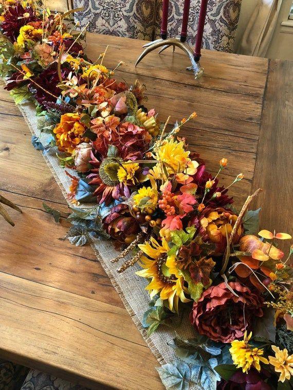 Luxury Fall garland, Mantel garland, Harvest garland