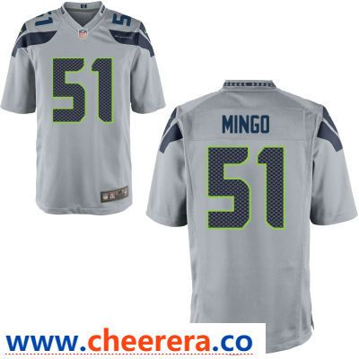 a48a4b1d0 Men s Seattle Seahawks  51 Barkevious Mingo Gray Alternate Stitched NFL Nike  Game Jersey