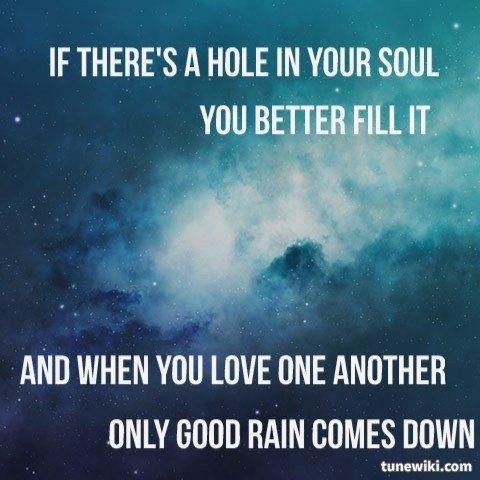 "-- #LyricArt for ""Good Rain"" by Trevor Hall"