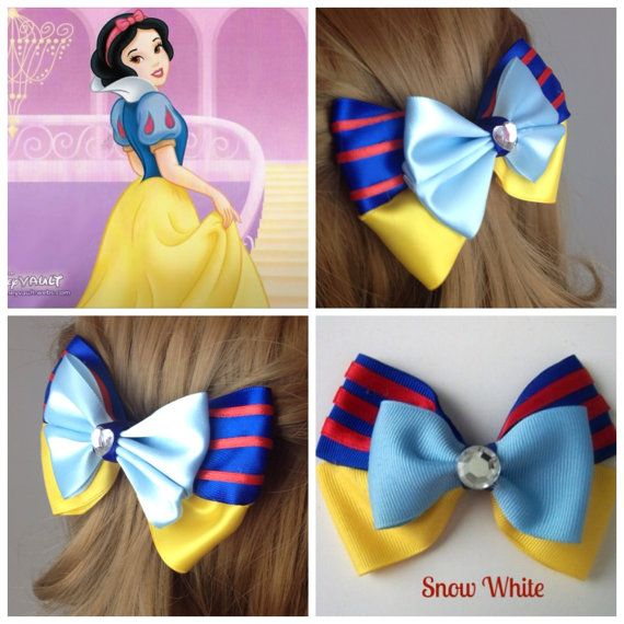 Handmade Hair Bow. Disney's Snow White. by HairBowObsessions