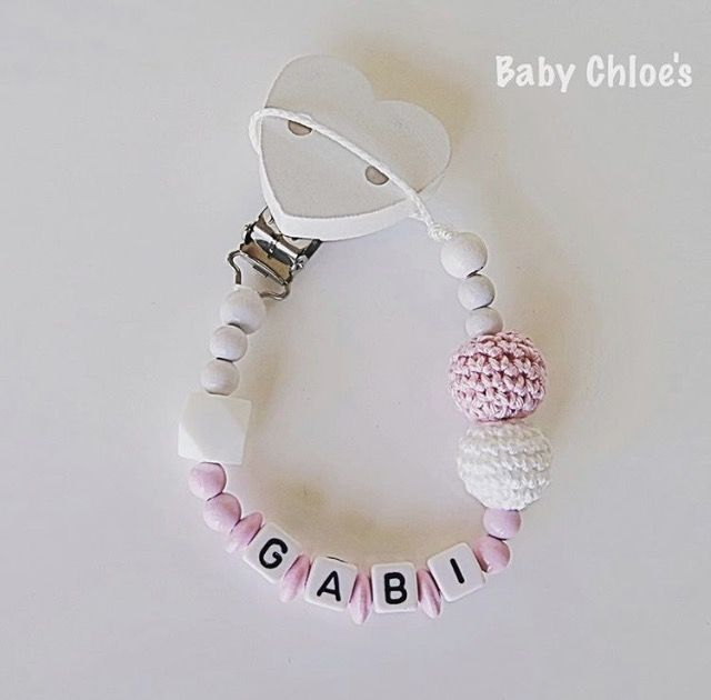 Handmade pacifier holders and key rings, Baby Chloe's